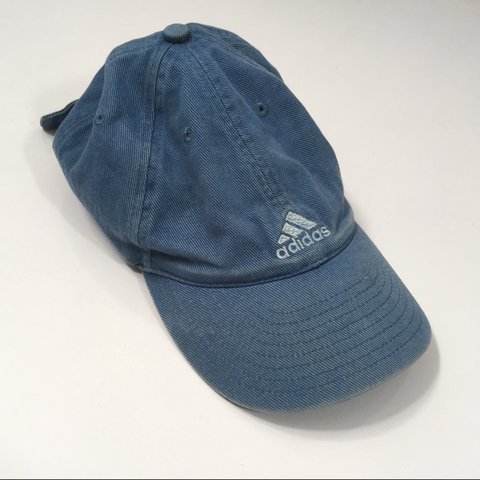 572284d2f909a Vintage Blue Adidas hat. One size fits all with adjustable - Depop