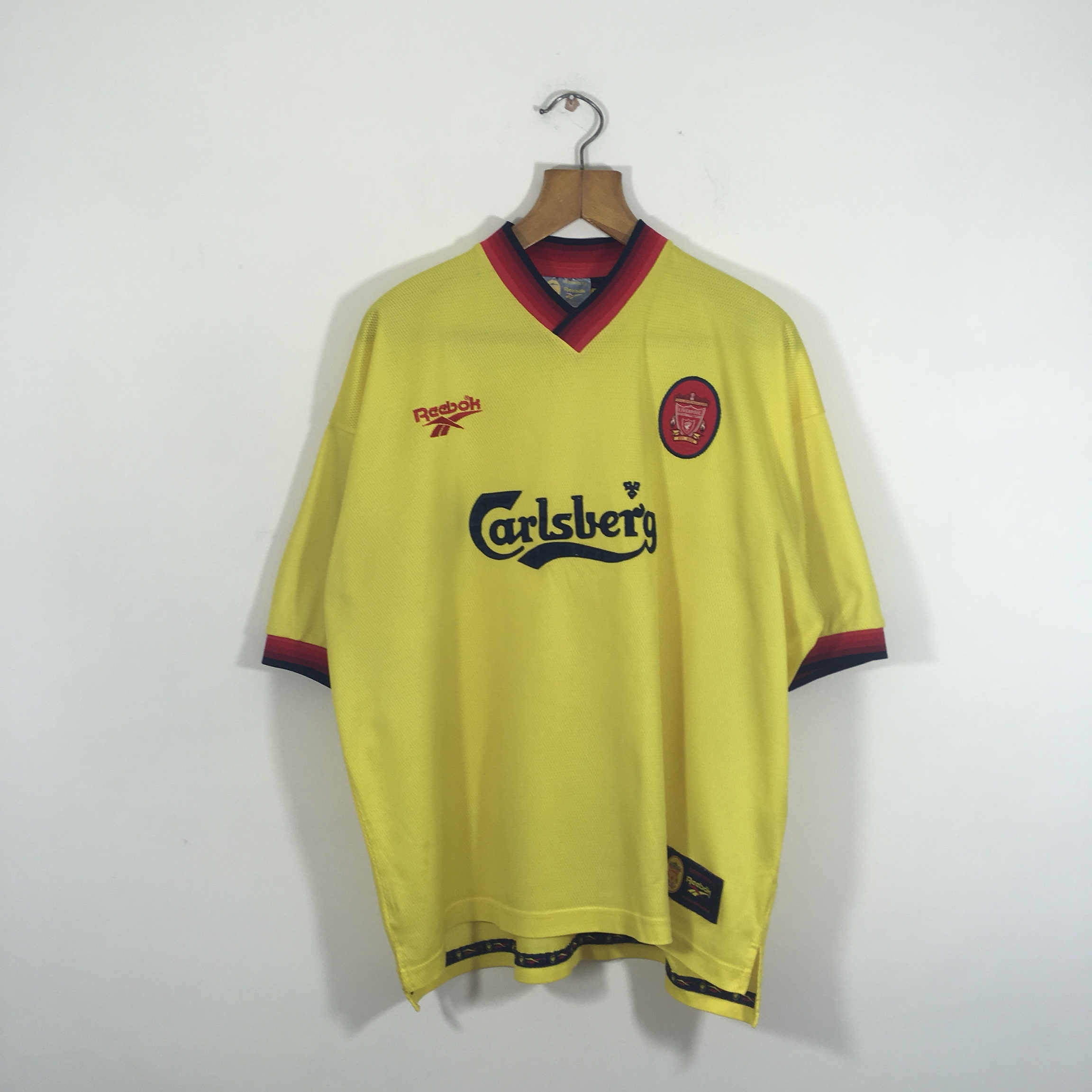 on sale 268e1 5d54c 1997/1998 Yellow Liverpool Away Kit. Size Large.... - Depop