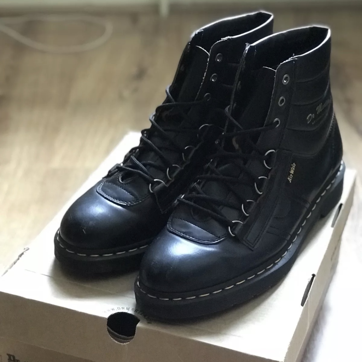223b62a1e64 Black Dr Martens Kamin hiking boots, comes with... - Depop