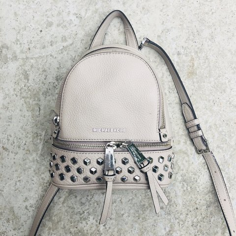 991ae0a08dc8 @kaysbox. yesterday. Purley, United Kingdom. MICHAEL KORS AUTHENTIC STUDDED RHEA  MINI BACKPACK ...