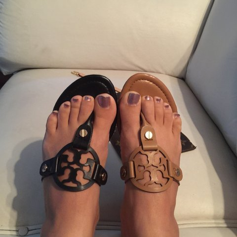 9758c9f5e1a Tory burch ️inspired sandals ️size 8 !  47 for a pair or  80 - Depop