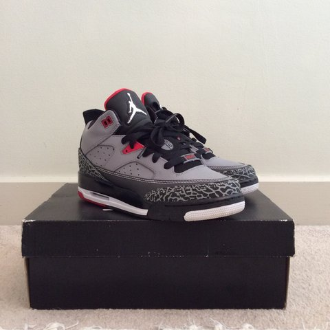 new style e6fd4 6f718  milllx. 7 months ago. London, UK. NEW Air Jordan Son of Mars collection.  Wolf Grey Red black.