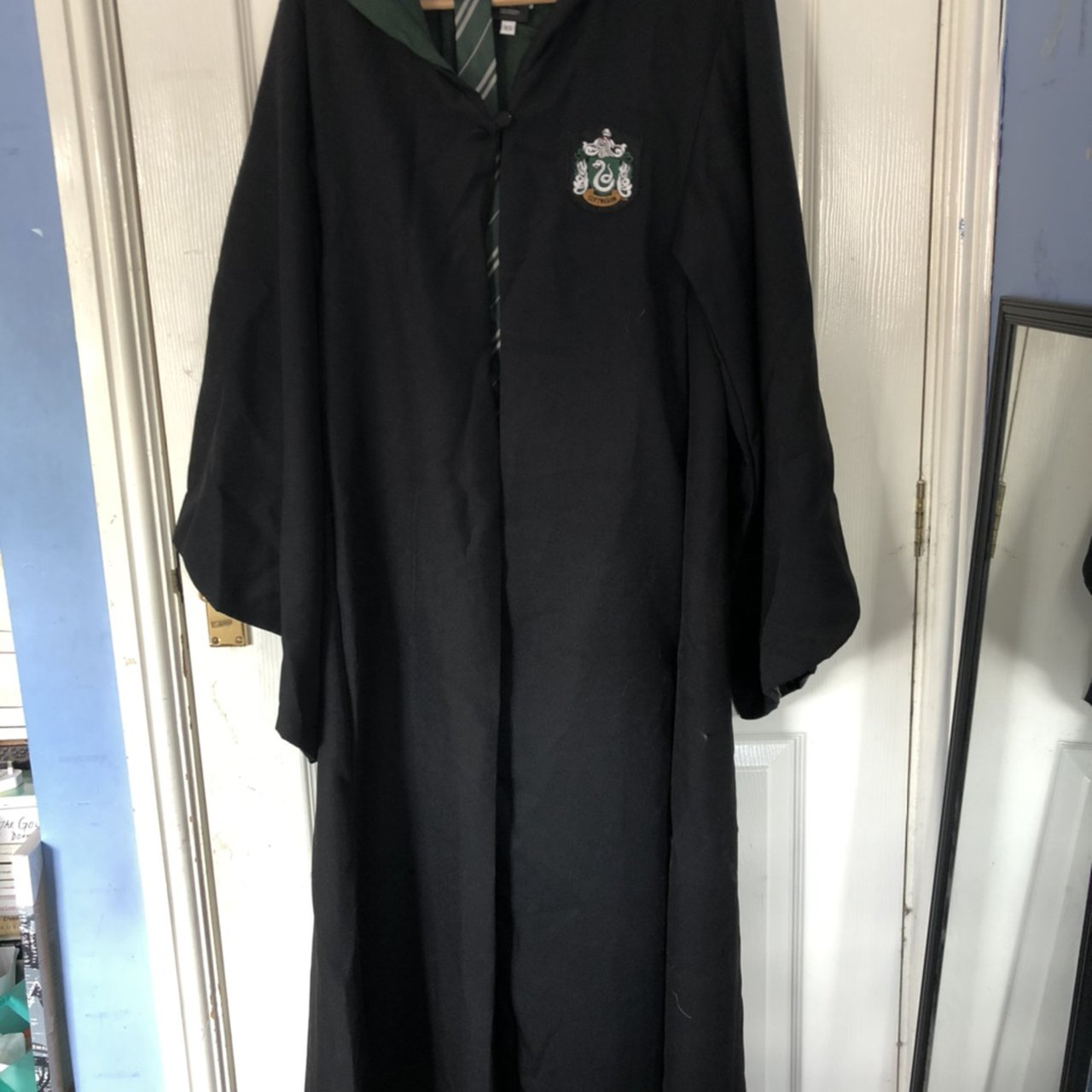 Authentic Harry Potter Slytherin Robes With Tie Depop