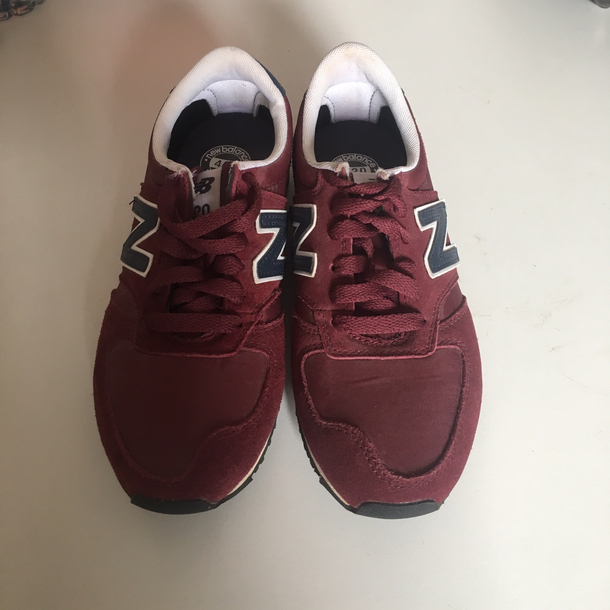 dark red new balance 420