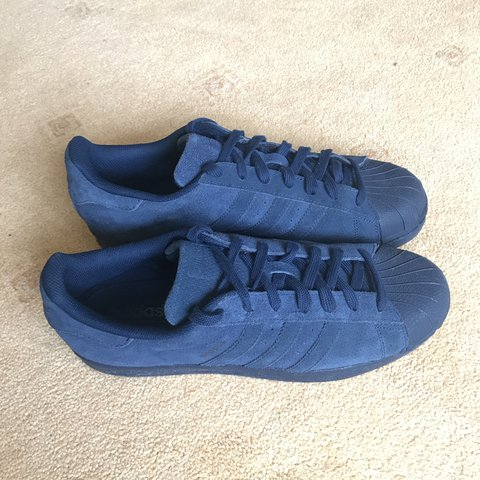 c911d9db8 MENS Size 10 Adidas Superstar. Navy in suede material. in or - Depop