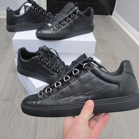 sports shoes fbeaa 266c1 Matte black Balenciaga arena low- 0