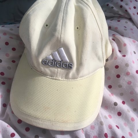 9f866159d2780 Pale yellow adidas hat £10 inc postage  cap  hat  yellow - Depop