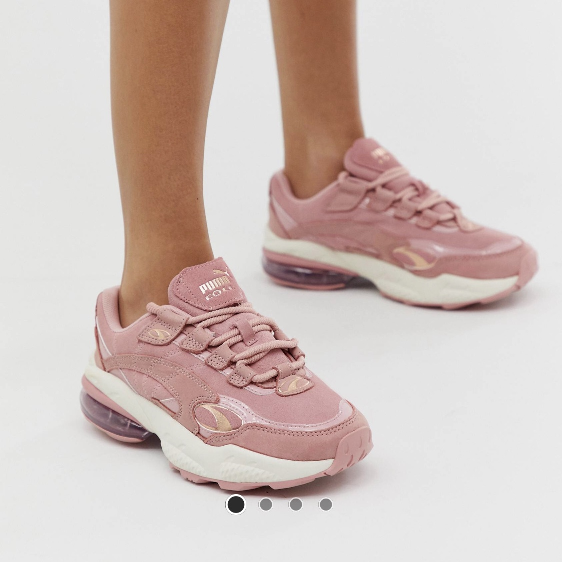 Puma cell venom pink patent pop trainers! Only wore... - Depop