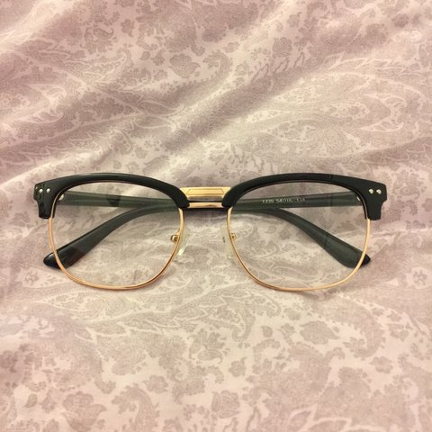 210a17b377 Clear glasses (not prescription). These are super cute and I - Depop