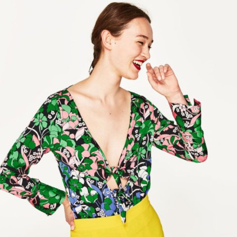 fbabab3c87 Zara floral bodysuit in size S. Never been worn