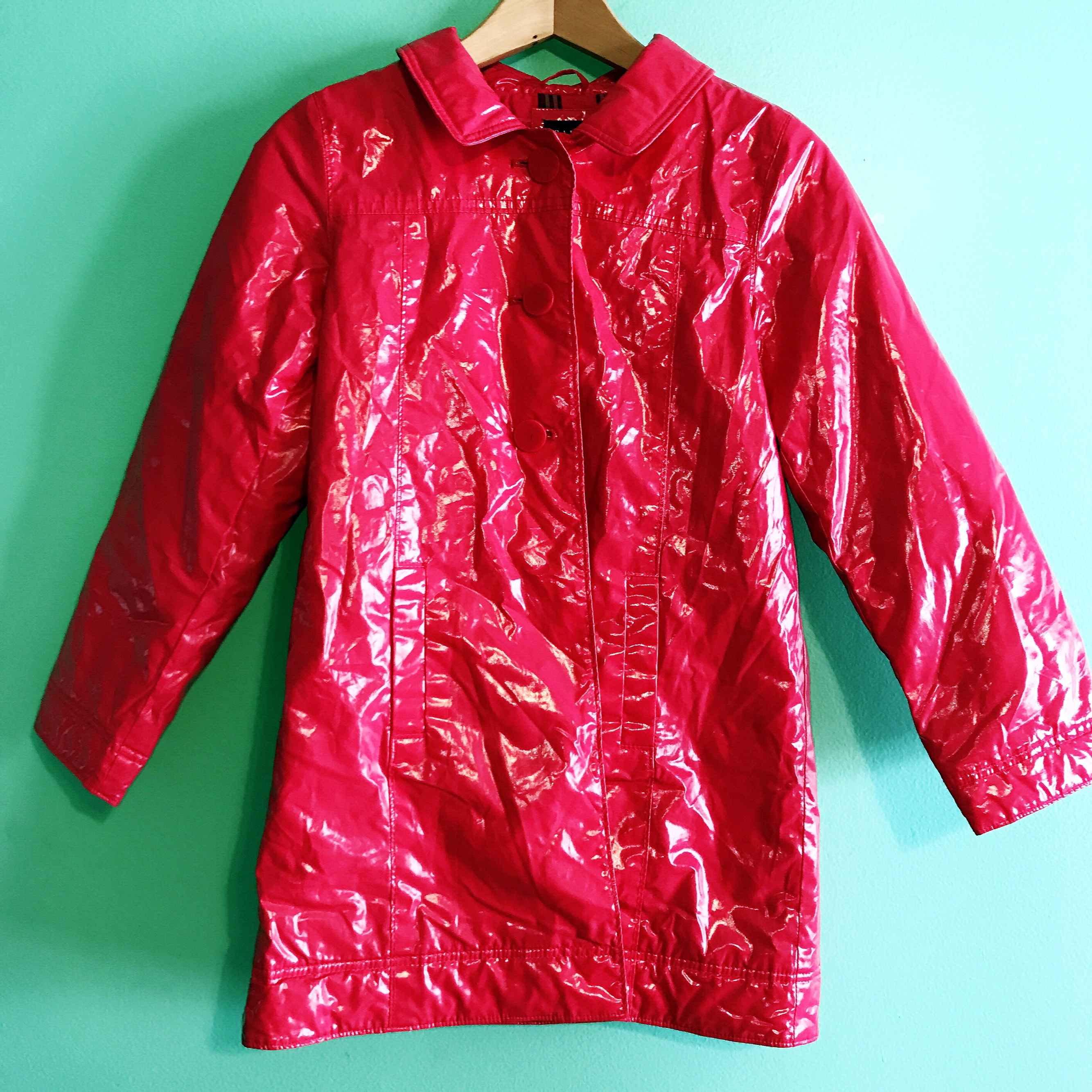 Early 2000s vintage unif candy coat style red long    - Depop
