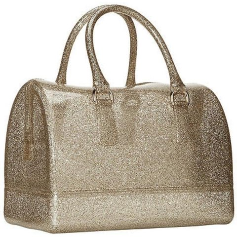 Furla Limited Edition Gold Glitter Candy Bag Worn Once And Depop