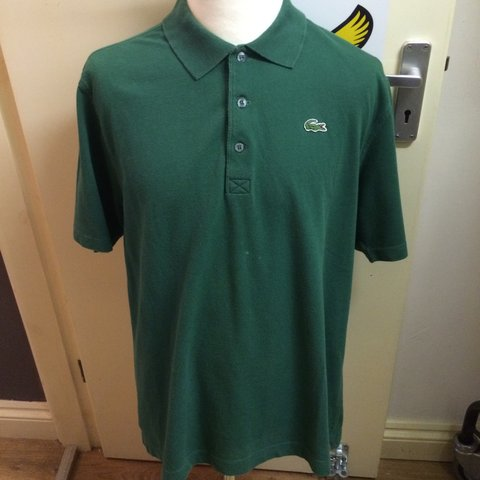 de80fc86 @sgnclothing. 3 years ago. Wigston, Leicestershire, UK. Men's green Lacoste  Sport polo shirt in size 5 (large), used but good condition.