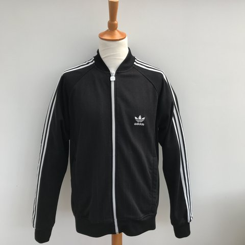 9027c6db3ad8 Men s Adidas Superstar Tracksuit top. Full zip track with - Depop