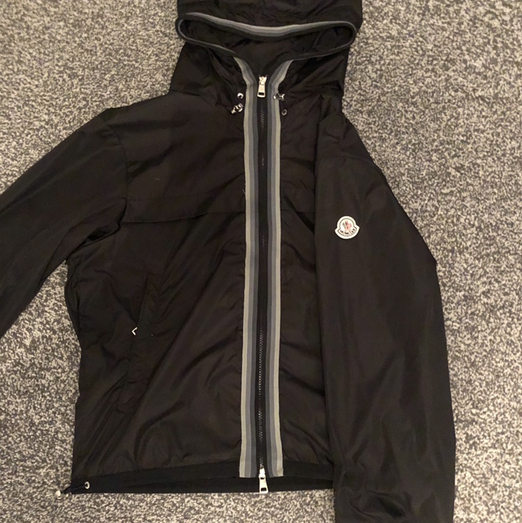 Selling on my eBay moncler jacket size 0 used in Depop