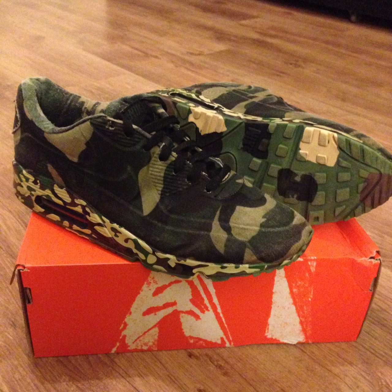 Nike Air max 90 camo VT UK 11. 810 condition. They Depop