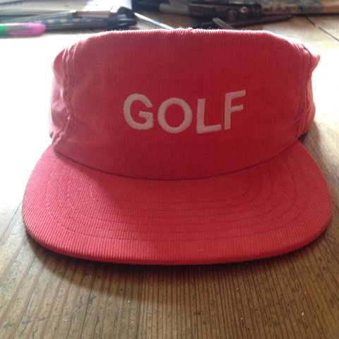 20d4b0c5 Golf Wang baseball cap hat salmon pink. From wolf album - by - Depop