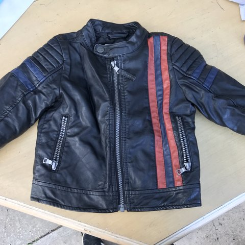 bcd9e5cb1 Boy s leather jacket from Next age 2-3. Padded so it s warm - Depop