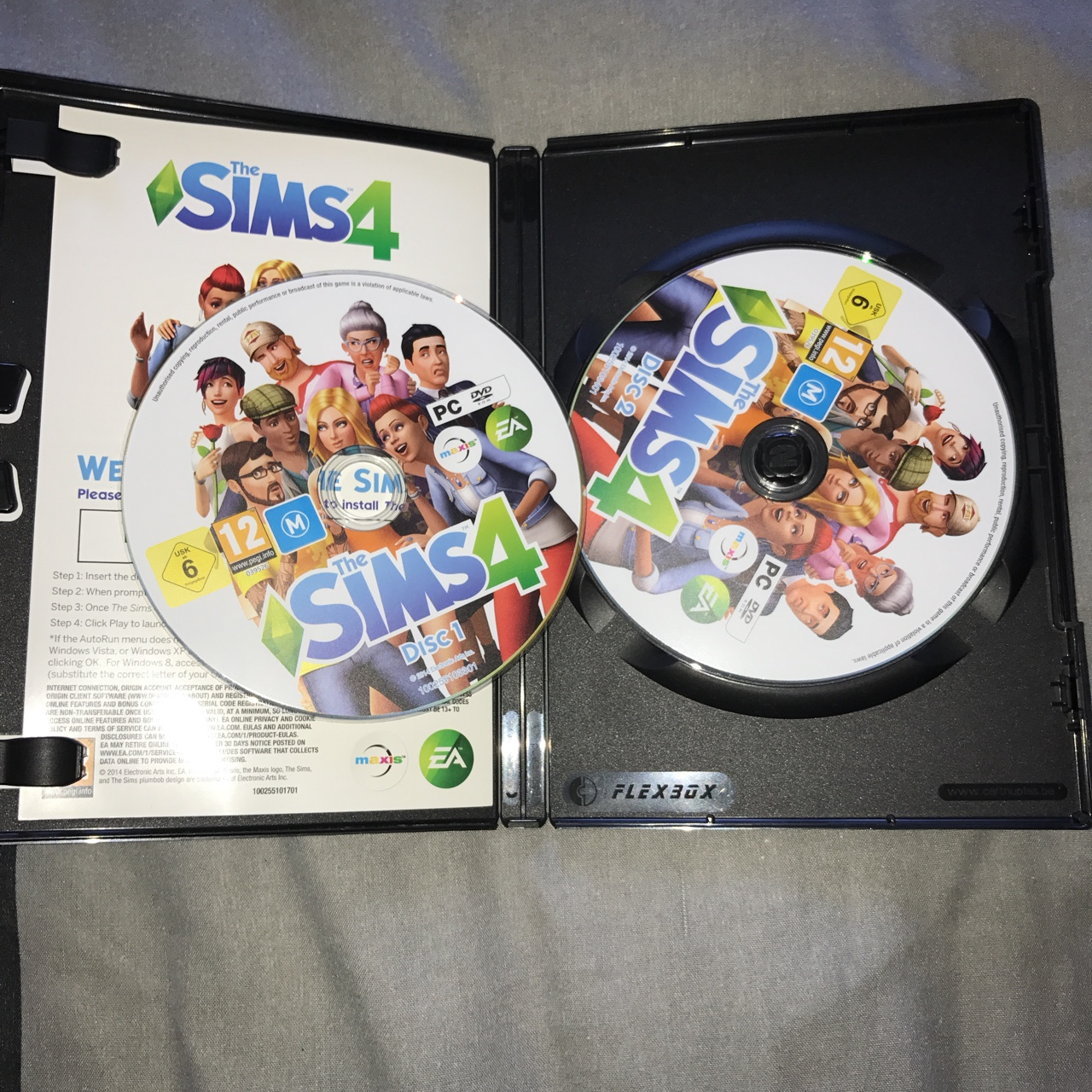 Sims 4 pc game, 2 disc set, code has already been    - Depop