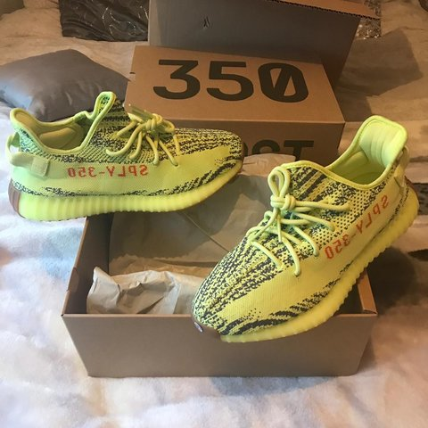 c0a4786bab1 BRAND NEW - Adidas YEEZY 350 boost v2 Semi Frozen Yellow - Depop