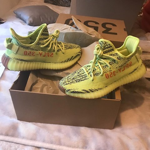 af784af499d BRAND NEW - Adidas YEEZY 350 boost v2 Semi Frozen Yellow - Depop