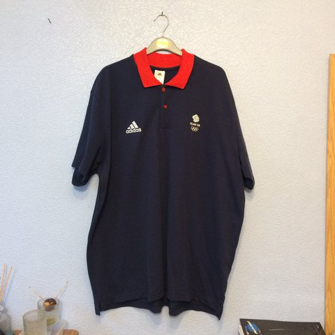60f59b402 Mens tshirt , Adidas Team gb polo shirt , athlete kit size - Depop
