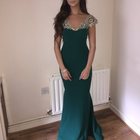 Emerald and Gold Dress