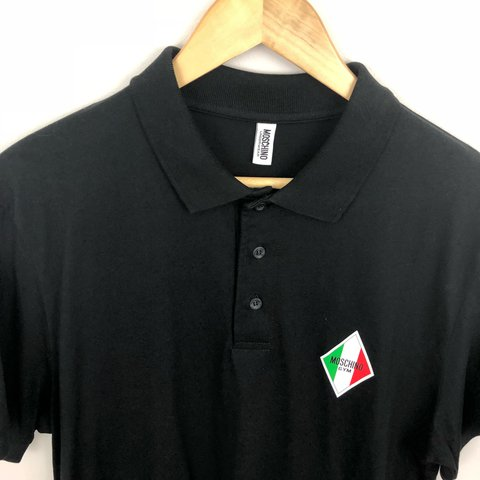 0ce56155 @slothmanvintage. last year. Leicester, United Kingdom. Moschino polo shirt size  large.