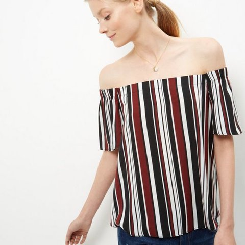 1f1ceee0da50ec New Look stripe Bardot top