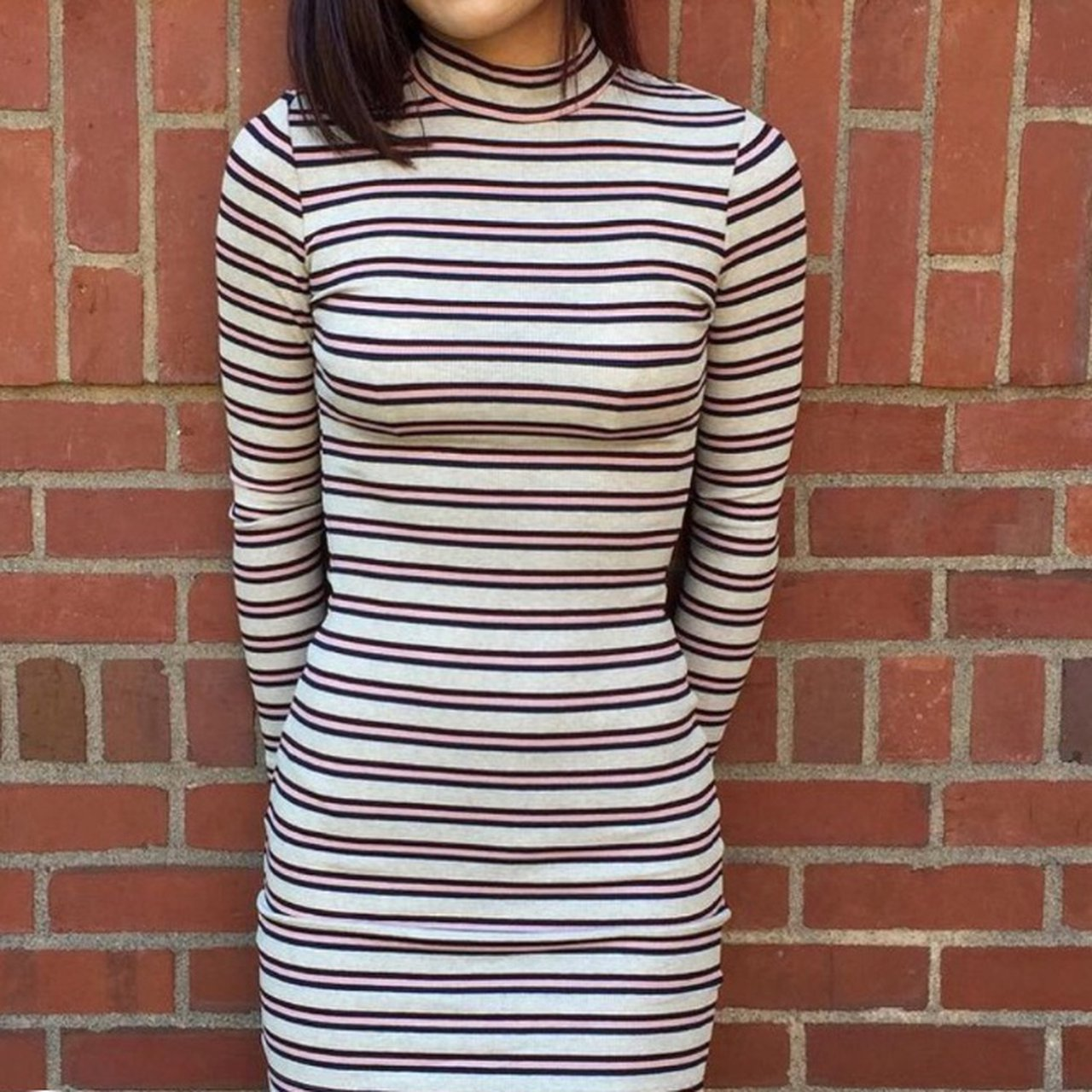 294df63da7 American Apparel striped dress Size L but can definitely be - Depop