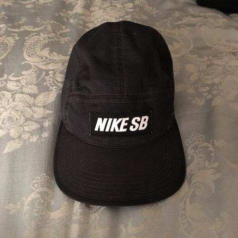 c77315010cd35 Nike SB five panel hat cap in black. 7.5 10 condition