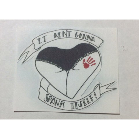 Spank It About Itself Sticker Gonna Matte 2x2 Depop Ain't qSMLpVGzU