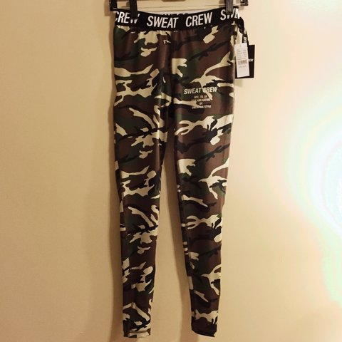 b2e120791b08 New with tags Sweat Crew camo leggings from PacSun. Size fit - Depop