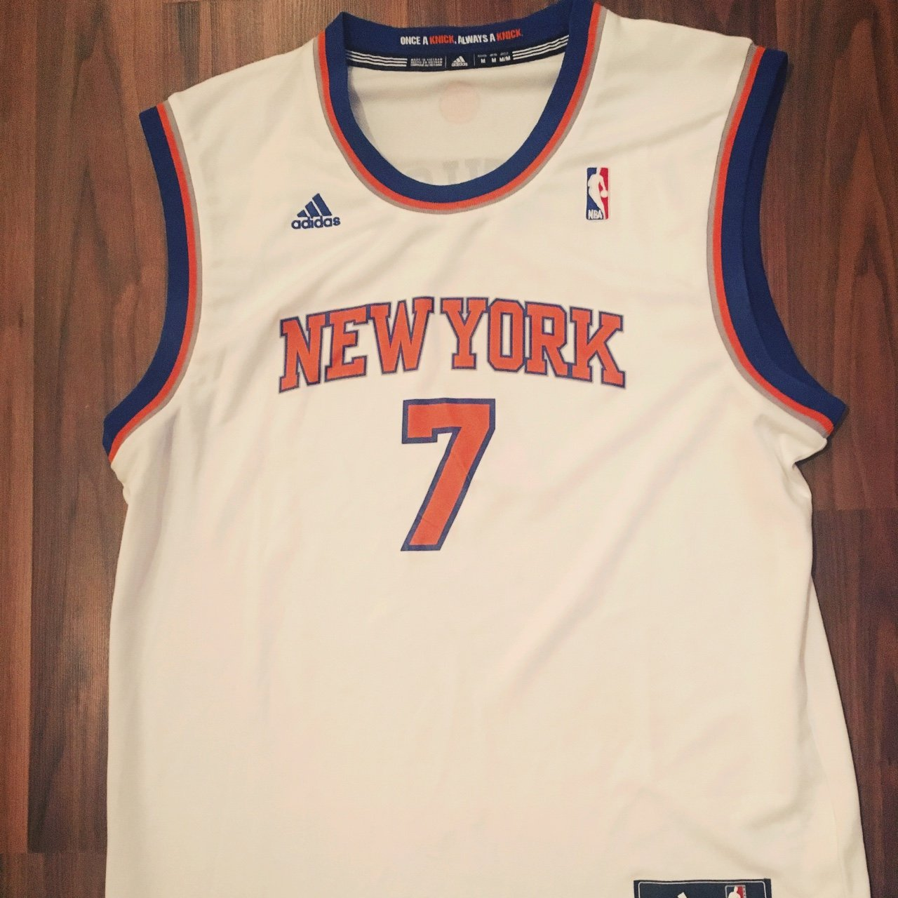 New York Knicks- Adidas Jersey with Anthony on the back - M - Depop 934086fcd
