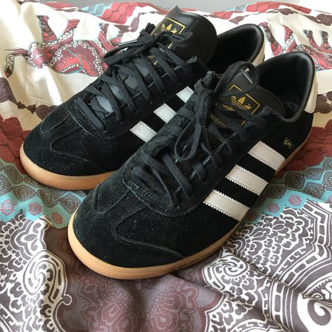a302bc6351d3 Adidas Hamburg - Black White Gum - very good condition and 8 - Depop