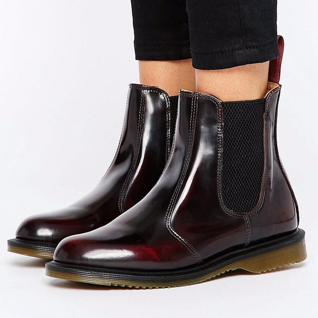 shop enjoy cheap price discount price Dr. Martens Flora Arcadia Cherry Red Chelsea... - Depop