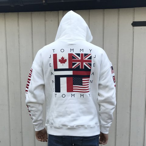 aa023e2d7 @10wardd. 11 months ago. Worcester, United Kingdom. Tommy Hilfiger/Tommy  Jeans Capsule collection flag hoodie