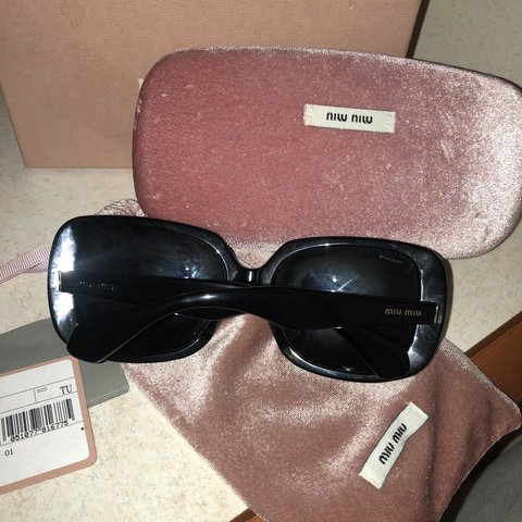 a40bf6c734afc Miumiu sunglasses genuine worn a few times in good condition - Depop