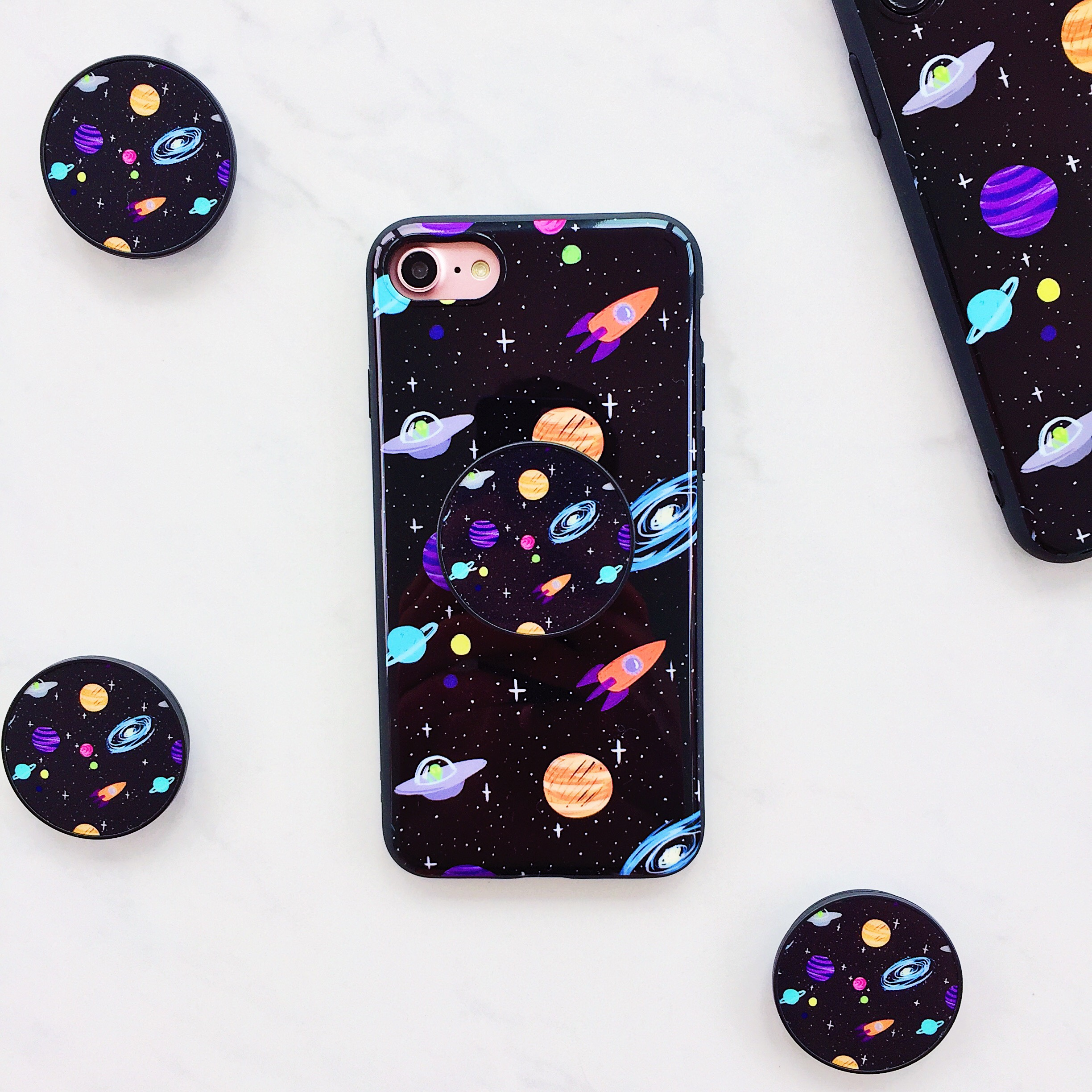 online retailer 4933b a67b8 Space case with matching POP socket iPhone 6 Plus /... - Depop