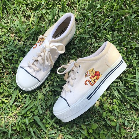 8f5e627c0f73 Vintage Winnie the Pooh Platform Sneakers 🌼 Brand new and - Depop