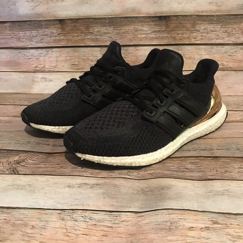 "ab94ba8f4d931 Used Adidas Ultra Boost ""Gold Medal"" Size 12 Color  Core - Depop"