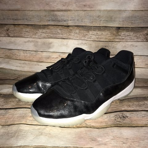 c63ddfe8d172ff 2017 Nike Air Jordan 11 XI Retro Low Barons Black White Size - Depop
