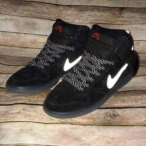 finest selection 34cf5 15617  pure steez. last month. Georgetown, United States. Nike Dunk High Prem Flash  SB Black Clear Mens Skateboarding Shoes ...