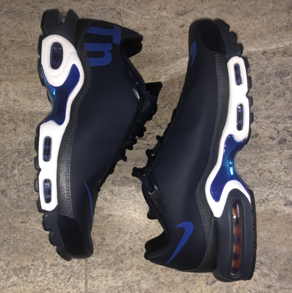 Details zu Mens Nike Tuned 1 Air Max Plus TN SE AQ1088400 Obsidian Racer Blue Trainers