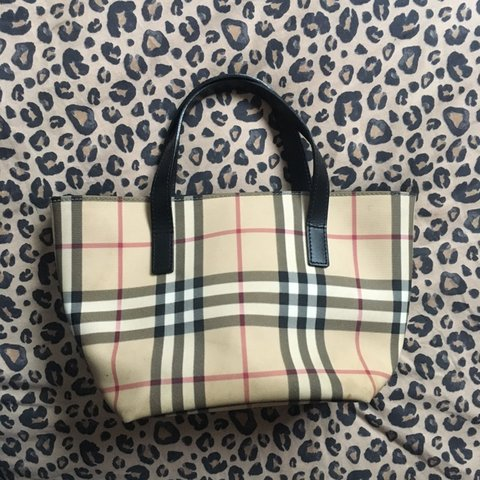 224069c805d4 Authentic Burberry nova check y2k mini tote bag✨ In good the - Depop