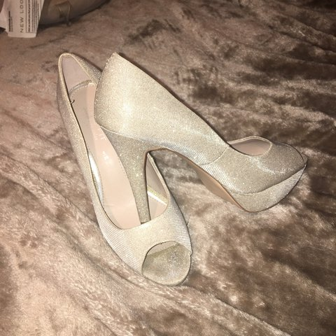 728a8cd2f79 Sparkly silver heels! Wide fit! From next! Open to offers ! - Depop
