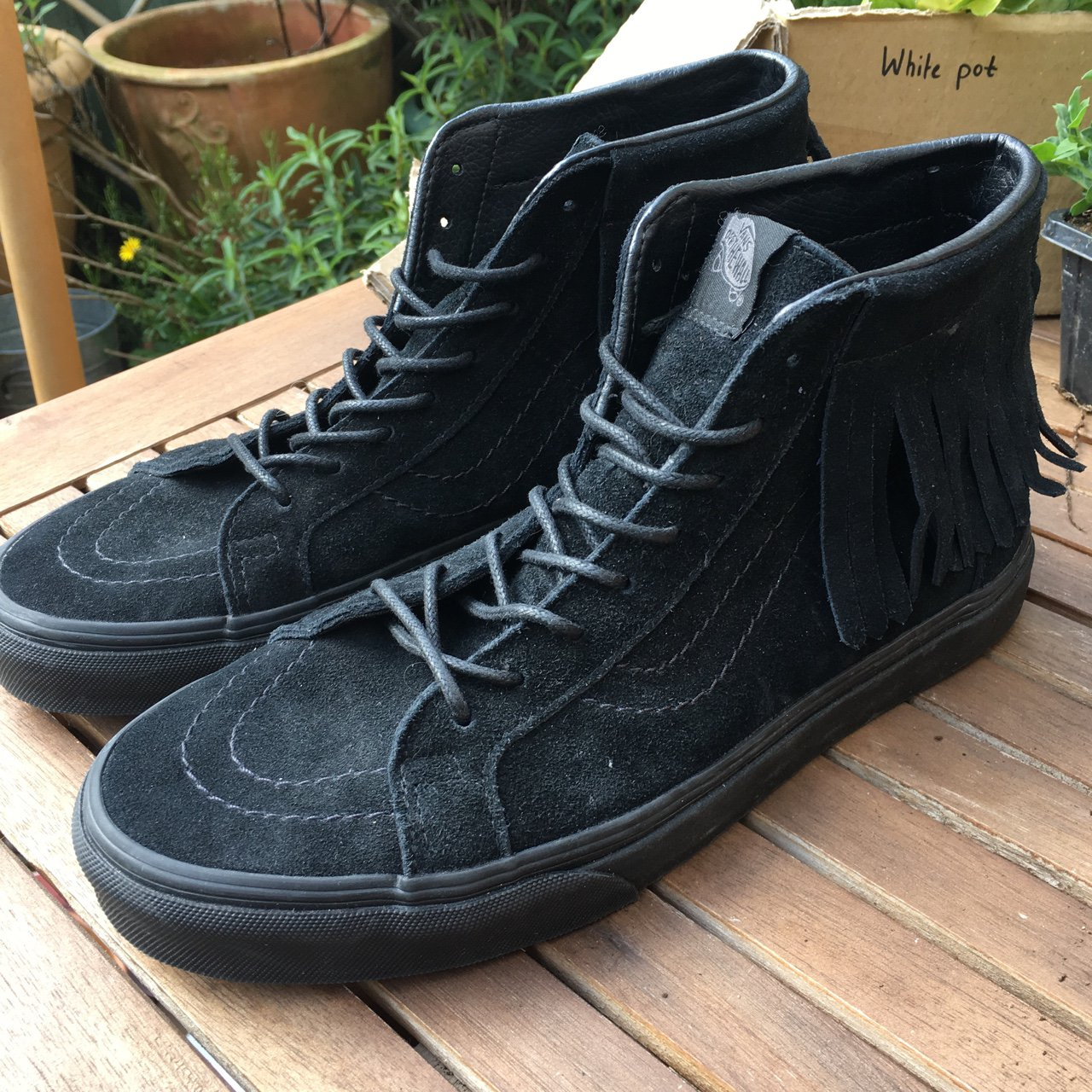 9a6247df9625 VANS SUEDE SK8-HI MOC WORN ONCE EXCELLENT CONDITION SIZE - Depop
