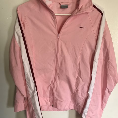 Baby pink Nike jacket. Such a cute shade of pink with and - Depop 62610533b