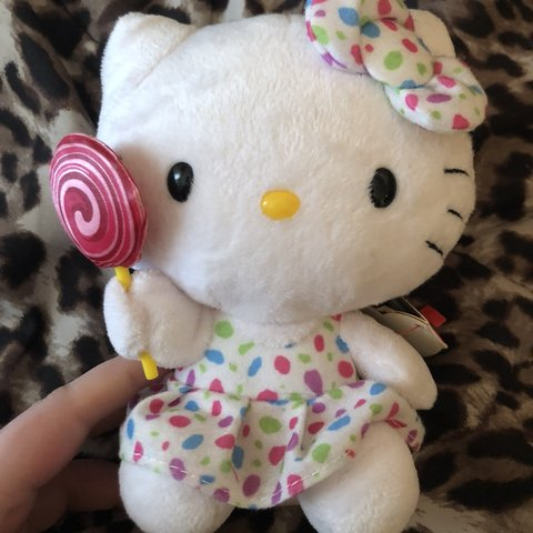 ea1882e603003 🍭 Ty Beanie Baby lollipop Hello Kitty plush. Great  6 I two - Depop