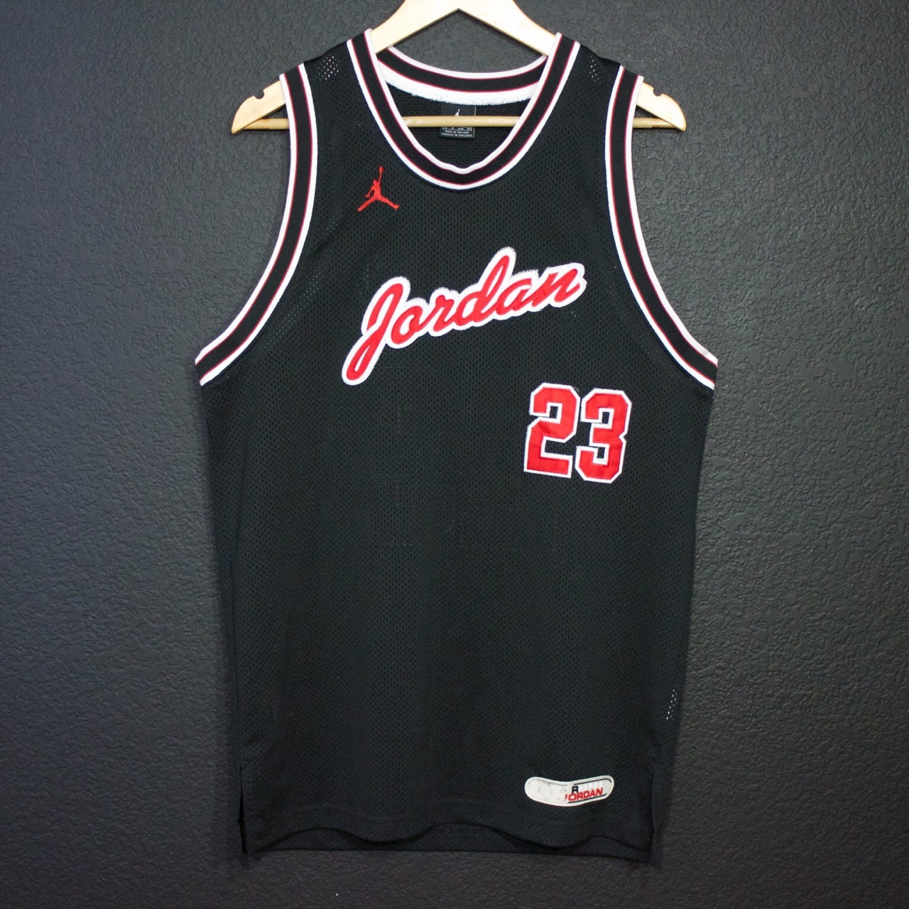 online retailer 4ba2d fb095 Michael Jordan Jersey Black and Red Size Small.... - Depop